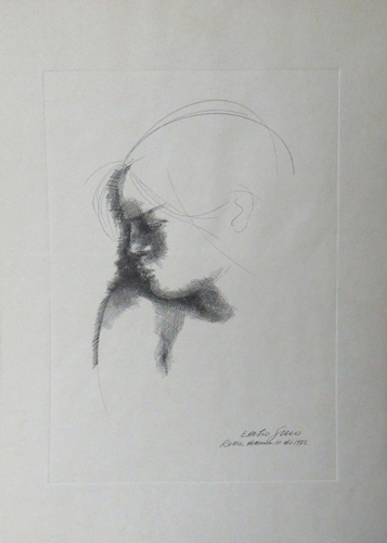 Art work by Emilio Greco Figura e ombra - lithography paper