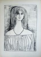 Quadro di  Righi - Eva litografia carta