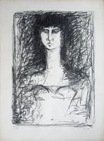 Quadro di  Righi - Figura di donna  litografia carta