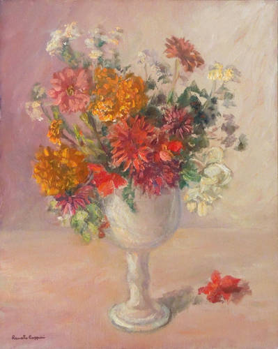 Art work by Renato Coppini  Vaso di fiori - oil canvas