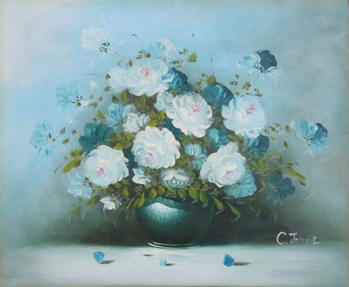 Art work by C. Jones Vaso di fiori - oil canvas