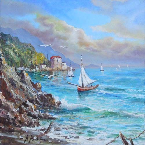 Art work by Rossella Baldino Regata - oil canvas
