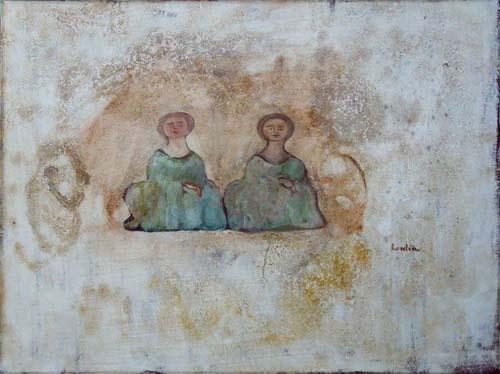 Quadro di (Franco Rivola) Rowlia Figure - Pittori contemporanei galleria Firenze Art