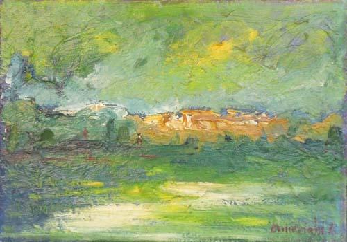 Quadro di Ennio Amerighi Paesaggio - olio tela