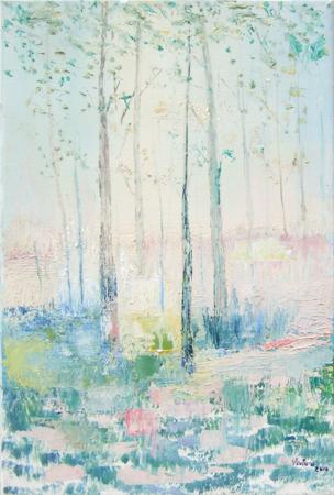 Quadro di Liù Venturi Paesaggio da sogno - olio tela