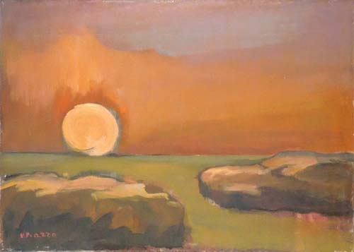 Art work by N Piazza  Tramonto - oil canvas