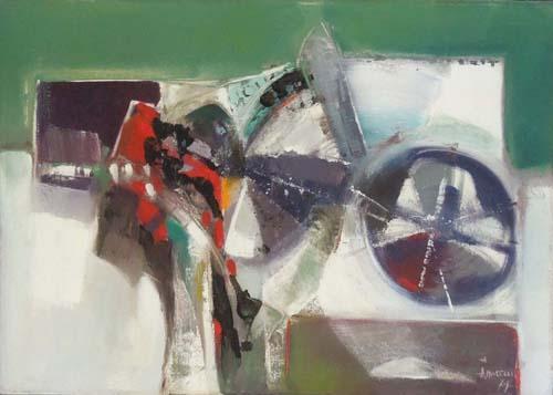 Quadro di Alberto Morelli Composizione N I - olio tela