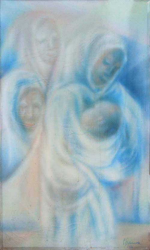 Quadro di Pietro Bellina  Generazioni - olio tela
