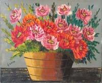 Quadro di Giorgio Di Volo - Secchio floreale olio tela