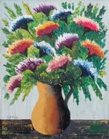 Quadro di Giorgio Di Volo - Vaso di fiori olio tela