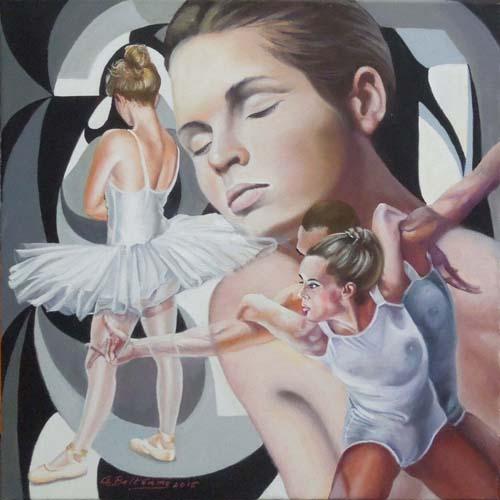 Quadro di Giampaolo Beltrame Balletto - olio tela