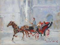 Work of Gino Paolo Gori  Amiche in carrozza