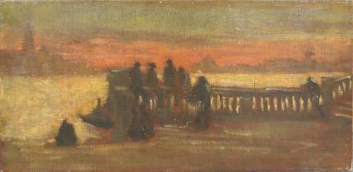 Quadro di  Anonimo Venezia - olio tela