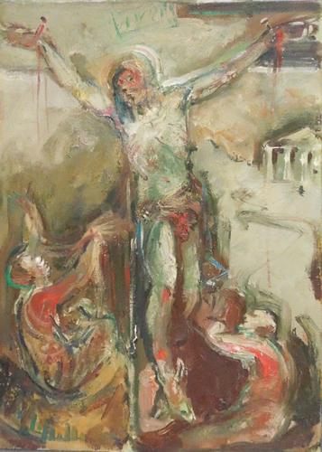Quadro di Emanuele Cappello Crocifissione - olio tela