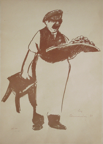Art work by Luigi Calamandrei Il Lachera - lithography paper