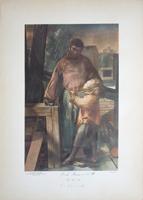 Quadro di Pietro Annigoni - San Giuseppe  litografia carta