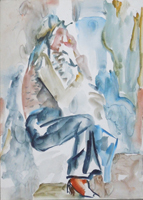 Work of Silvio Loffredo  Figura seduta