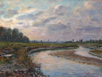 Work of Berto Ferrari  Paesaggio fluviale