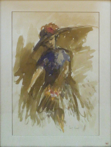 Quadro di Luigi Rosati Figura femminile - Pittori contemporanei galleria Firenze Art