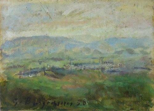 Quadro di Guido Borgianni Paesaggio - acrilico carta