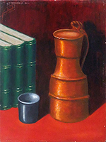 Work of firma Illeggibile - Composizione oil canvas cardboard