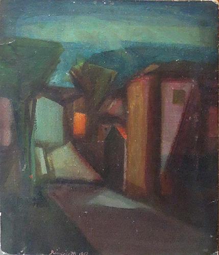 Quadro di Luigi Rincicotti Paesaggio - olio cartone telato