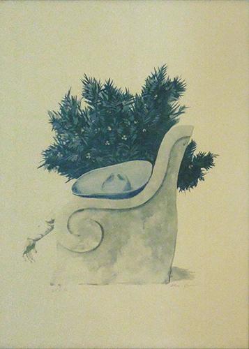 Art work by firma Illeggibile Composizione - lithography paper
