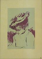 Quadro di Michele Salemi - Figura con cappello stampa carta