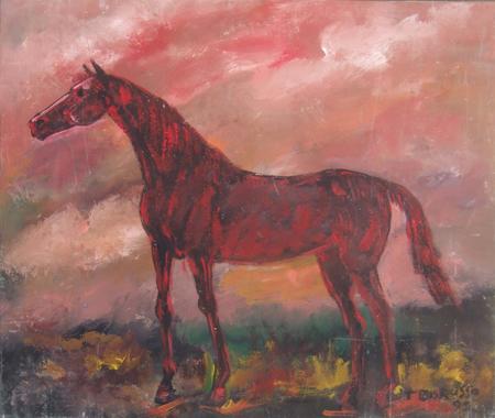 Quadro di Teo Russo Cavallo - olio tavola