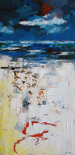 Art work by Mauro Capitani Colori di una spiaggia  - oil canvas