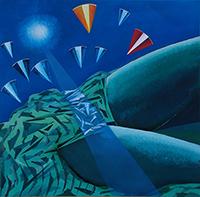 Work of Mauro Capitani - Le accoglienti colline di Newton oil canvas