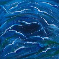 Work of Mauro Capitani - Gabbiani oil canvas