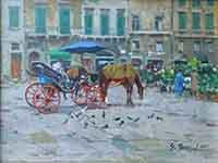 Work of Graziano Marsili  Carrozzella in piazza della Signoria