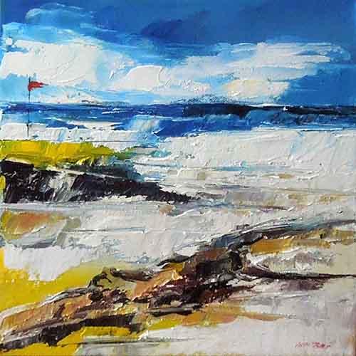 Quadro di Mauro Capitani Spiaggia a Marina di Bibbona - olio tela