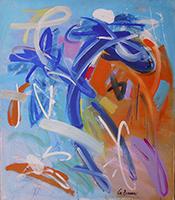 Quadro di Dino La Bianca - Composizione  olio tela