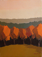 Work of Alviero Tatini  Paesaggio con alberi rossi