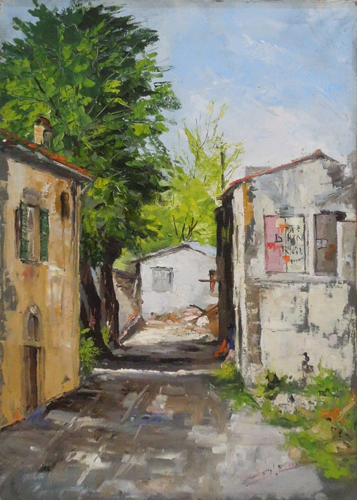 Art work by Mario D'Elia Casolari di campagna - oil canvas