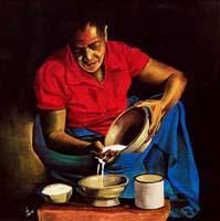 Quadro di Paolo Lenti  Prima colazione