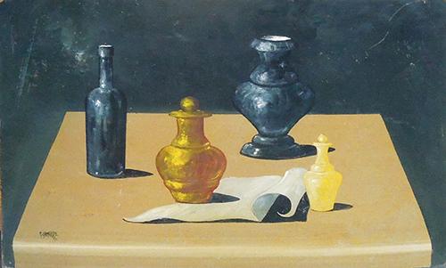 Quadro di Marcello Gamurro Composizione  - olio faesite