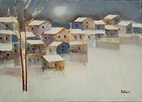 Work of Lido Bettarini  Paesaggio innevato