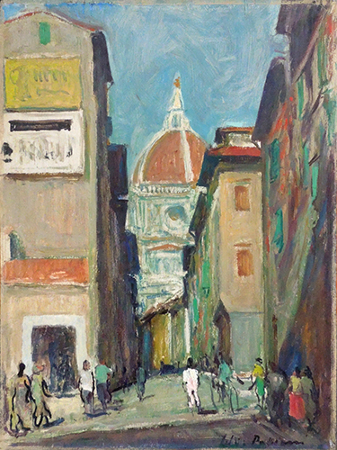 Quadro di Silvio Polloni Duomo di Firenze - olio compensato
