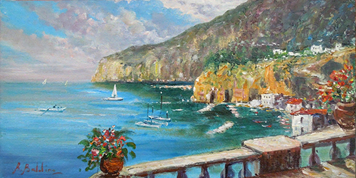 Art work by Rossella Baldino Veduta di Sorrento - oil canvas