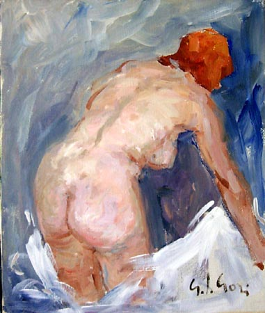 Art work by Gino Paolo Gori Nudo - oil canvas