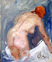 Work of Gino Paolo Gori - Nudo oil canvas
