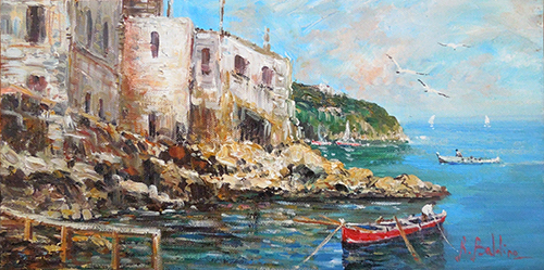 Art work by Rossella Baldino Conca di Sorrento  - oil canvas