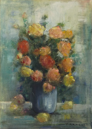 Art work by Angelo Tardelli Vaso di fiori - oil canvas