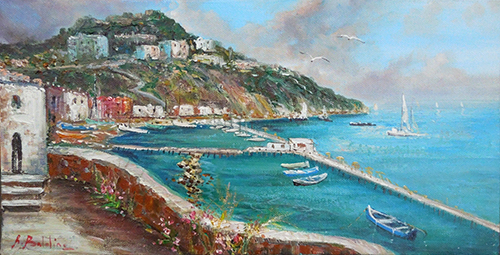Art work by Rossella Baldino La terrazza di Sorrento - oil canvas
