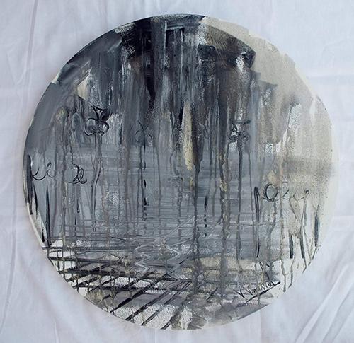 Quadro di Vanessa Katrin Riflessi di un pomeriggio - olio tela
