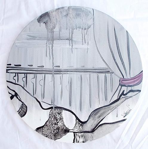 Quadro di Vanessa Katrin Riflessi di un pomeriggio - Pittori contemporanei galleria Firenze Art