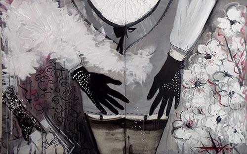 Quadro di Vanessa Katrin Dopo lo spettacolo  - olio cartone telato